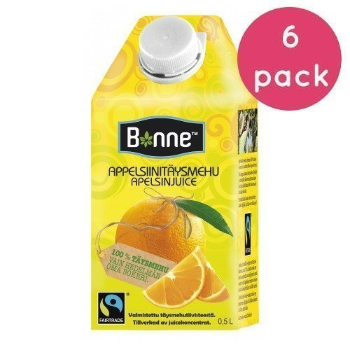 Bonne Premium Appelsiinitäysmehu 6 x 0