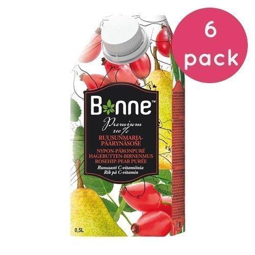Bonne Premium Ruusunmarja-päärynä 6 x 0