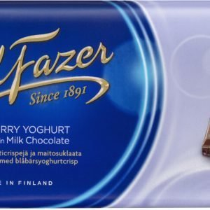 Fazer Blueberry Yoghurt Crisp 190 G Suklaalevy
