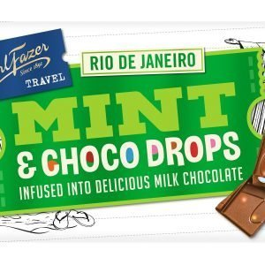 Fazer Travel Mint And Choco Drops 130 G Suklaalevy