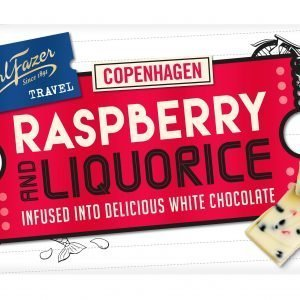 Fazer Travel Raspberry And Liquorice 130 G Suklaalevy