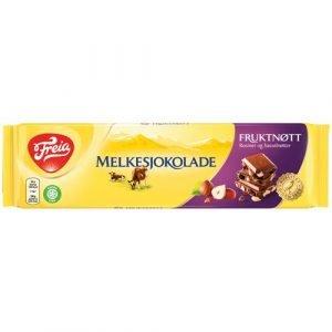 Freia Hasselnød & Rosin Chokolade Plade 250 G