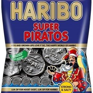 Haribo Super Piratos 135 G Salmiakkimerkkari