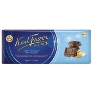 Karl Fazer Suklaalevy Salty Popcorn 200 G