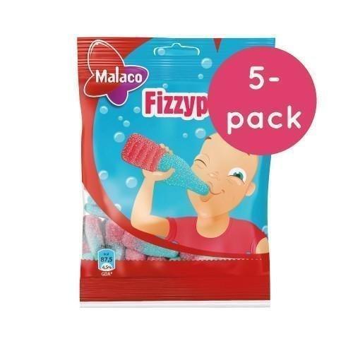 Malaco Fizzypop 5-pack 5 x 80g