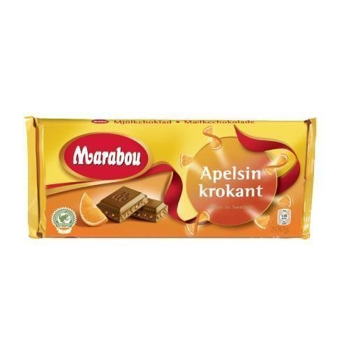 Marabou Appelsiinikrokantti Suklaalevy 200g