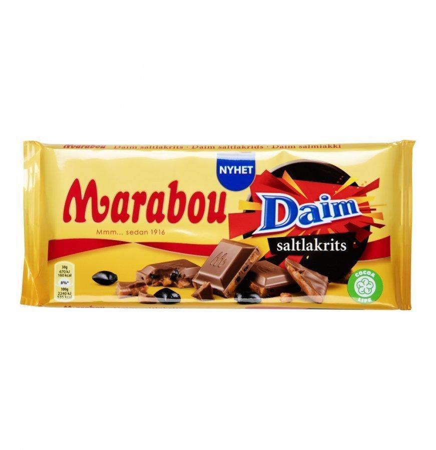 Marabou Suklaalevy 200g Daim Salt Liquorice