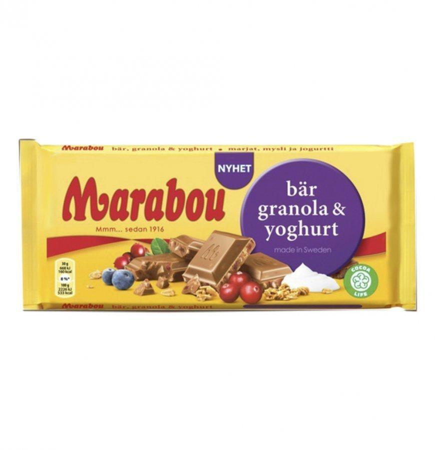 Marabou Suklaalevy 200g Marja Granola&Yoghurt