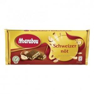 Marabou Suklaalevy 200g Sveitsinpähkinä