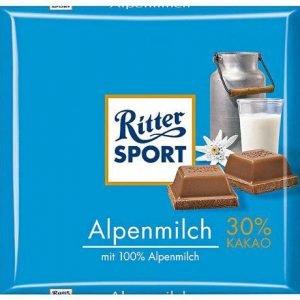 Ritter Sport Alpine Milk Chocolate 100gr.