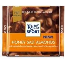 Ritter Sport Honning Saltede Mandler 100 G