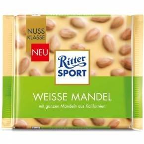 Ritter Sport Hvid Hel Mandel 100 G