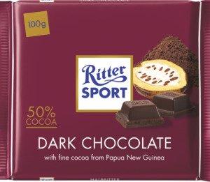 Ritter Sport Mørk 50% Kakao 100 G