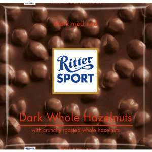 Ritter Sport Mørk Med Hele Hasselnødder 100 G