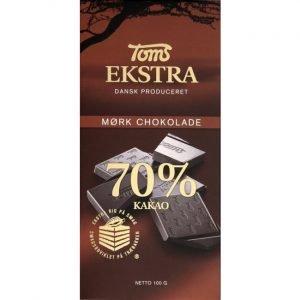 Toms Ekstra Mørk 70% 100 G